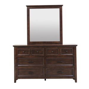 Laurel Creek 6 Drawer Dresser w/ Mirror