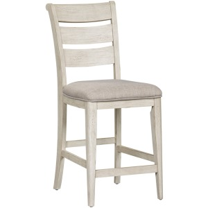 Farmhouse Reimagined Ladder Back Uph Counter Chair (RTA)