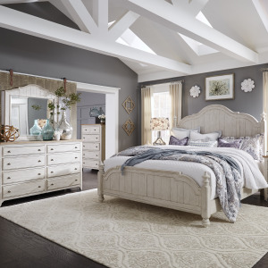 Farmhouse Reimagined King Poster Bed, Dresser & Mirror, Chest