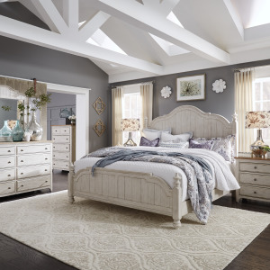 Farmhouse Reimagined King Poster Bed, Dresser & Mirror, Chest, Night Stand