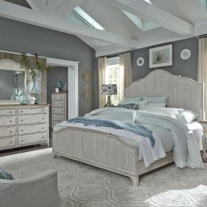 Farmhouse Reimagined Queen Panel Bed, Dresser & Mirror, Chest