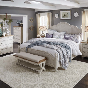 Farmhouse Reimagined King California Panel Bed, Dresser & Mirror, Chest, Night Stand