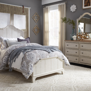 Farmhouse Reimagined Full Panel Bed, Dresser & Mirror
