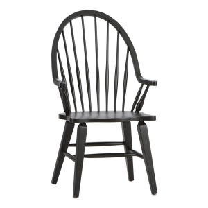 Windsor Back Arm Chair - Black