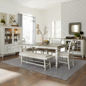 Whitney 6 Piece Rectangular Table Set