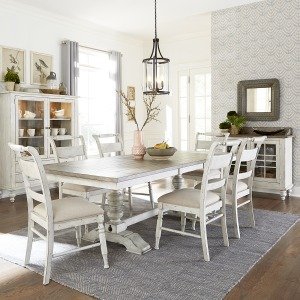 Whitney 7 Piece Trestle Table Set