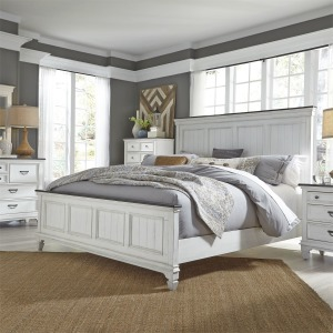 Allyson Park King Panel Bed, Dresser & Mirror, Chest, Night Stand