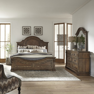 Haven Hall King Panel Bed, Dresser & Mirror
