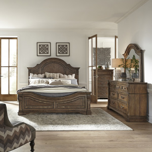 Haven Hall King Panel Bed, Dresser & Mirror, Chest