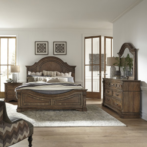 Haven Hall King Panel Bed, Dresser & Mirror, Night Stand