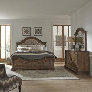 Haven Hall King Opt Panel Bed, Dresser & Mirror