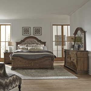 Haven Hall King Opt Panel Bed, Dresser & Mirror, Night Stand