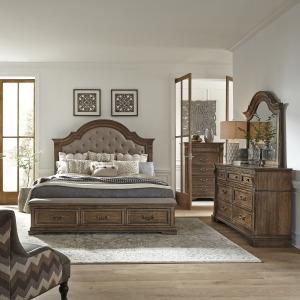 Haven Hall King Opt Storage Bed, Dresser & Mirror, Chest
