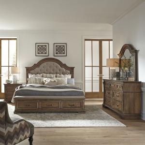 Haven Hall King Opt Storage Bed, Dresser & Mirror, Night Stand