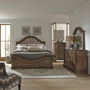 Haven Hall Opt Queen Panel Bed, Dresser & Mirror, Chest