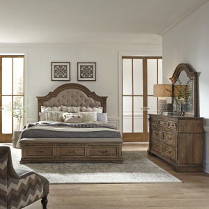 Haven Hall Opt Queen Storage Bed, Dresser & Mirror