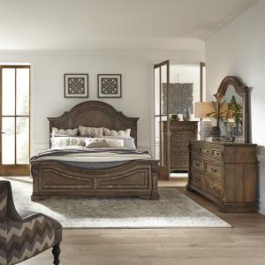 Haven Hall Queen Panel Bed, Dresser & Mirror, Chest