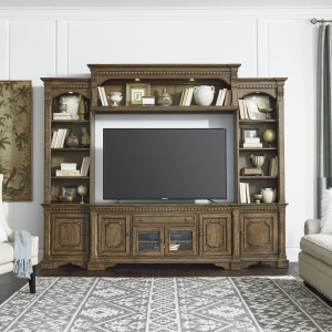 Haven Hall Entertainment Center with Piers