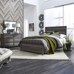Tanners Creek King Panel Bed, Dresser & Mirror