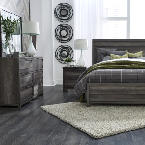 Tanners Creek Queen Panel Bed, Dresser & Mirror, Night Stand