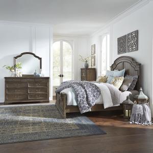 Homestead King California Panel Bed, Dresser & Mirror, Chest