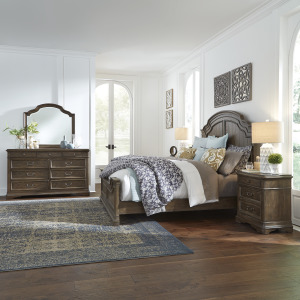 Homestead King California Panel Bed, Dresser & Mirror, Night Stand