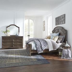 Homestead Queen Panel Bed, Dresser & Mirror