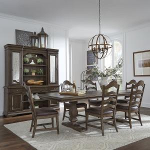 Homestead 7 Piece Trestle Table Set