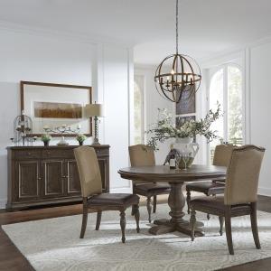 Homestead Opt 5 Piece Pedestal Table Set
