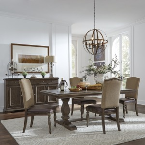 Homestead Opt 5 Piece Trestle Table Set