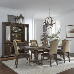Homestead Opt 7 Piece Trestle Table Set