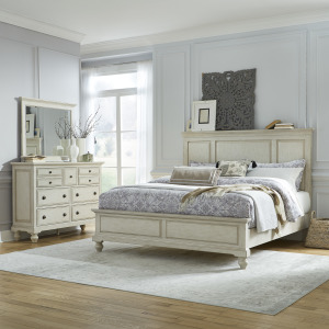 High Country King California Panel Bed, Dresser & Mirror