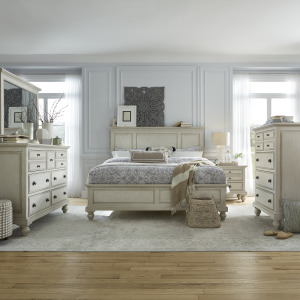 High Country King California Panel Bed, Dresser & Mirror, Chest, Night Stand