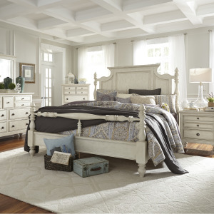 High Country King Poster Bed, Dresser & Mirror, Chest, Night Stand