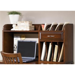 Hampton Bay Home Office Cherry Computer Credenza & Writing Hutch