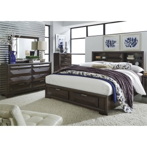Newland King Storage Bed, Dresser & Mirror, Chest