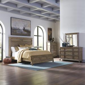 The Laurels King Panel Bed, Dresser & Mirror, Chest