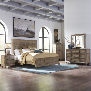 The Laurels King Opt Panel Bed, Dresser & Mirror, Chest, Night Stand