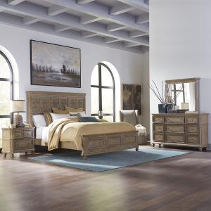 The Laurels Opt Queen Panel Bed, Dresser & Mirror, Night Stand