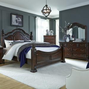 Messina Estates King Poster Bed, Dresser & Mirror