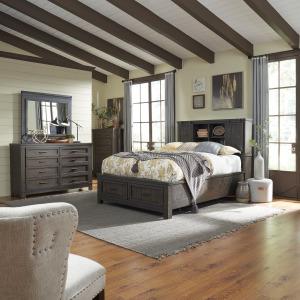 Thornwood Hills King Bookcase Bed, Dresser & Mirror, Chest