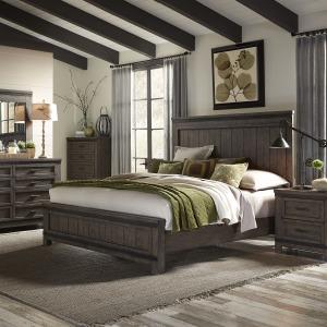 Thornwood Hills King Panel Bed, Dresser & Mirror, Chest, Night Stand