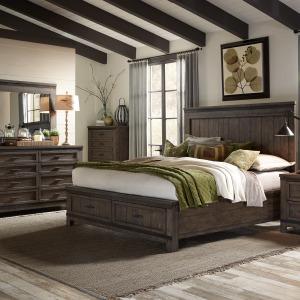 Thornwood Hills King Storage Bed, Dresser & Mirror, Chest
