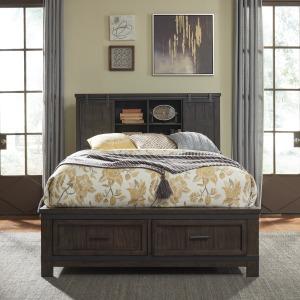 Queen Bookcase Bed