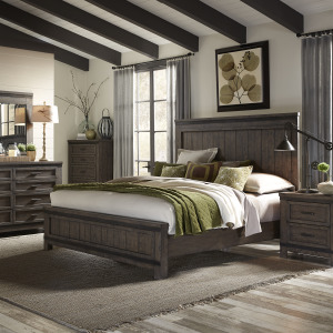 Thornwood Hills Queen Panel Bed, Dresser & Mirror, Chest, Night Stand
