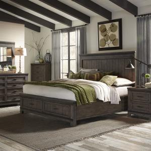 Thornwood Hills Queen Storage Bed, Dresser & Mirror, Chest, Night Stand