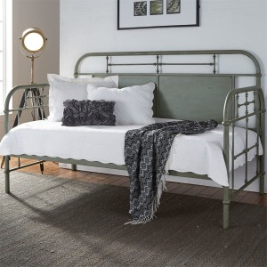 Vintage Series Twin Metal Day Bed - Green