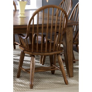 Treasures Bow Back Arm Chair - Oak