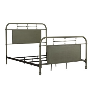 Vintage Series Queen Metal Bed - Green