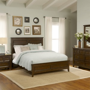 Laurel Creek King Panel Bed, Dresser & Mirror, NS